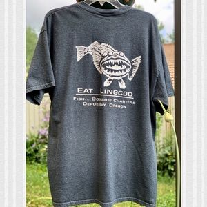 Gildan Lingcod Depoe Bay OR Graphic Tee Size XL